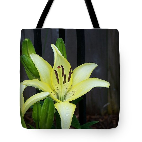 Tote Bag featuring the photograph Yellow Lilly by Richard Ricci