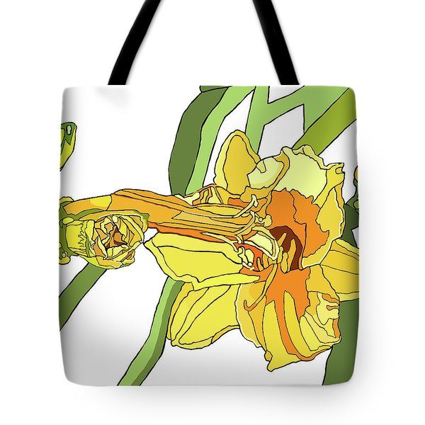 Yellow Lily And Bud, Graphic Tote Bag by Jamie Downs