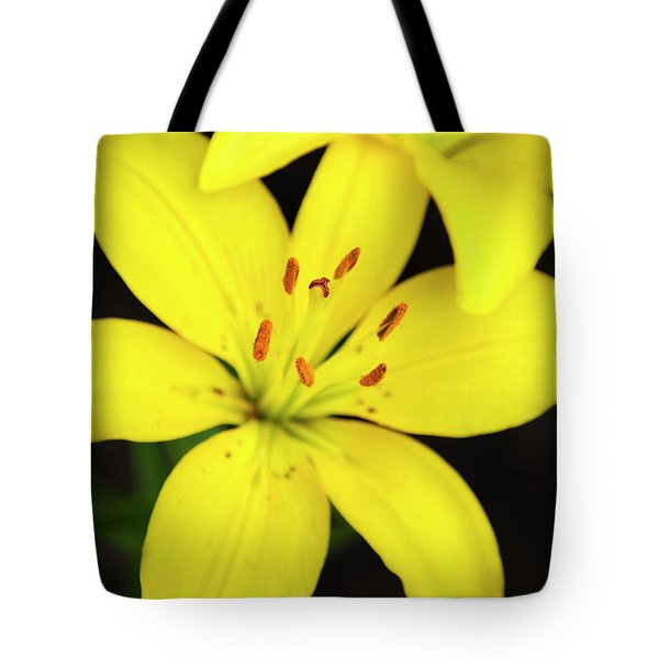 Yellow Lily Flower Tote Bag