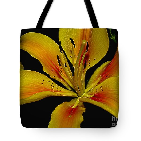 Yellow Lily Tote Bag by Suzanne Handel