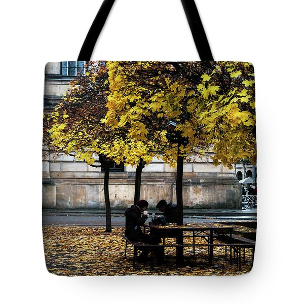 Tote Bag featuring the photograph Yellow Lunch by Ana Mireles