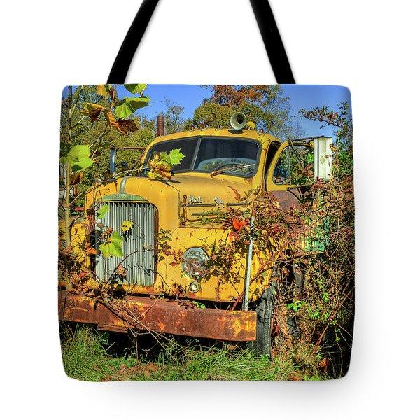 Yellow Mack Truck Tote Bag
