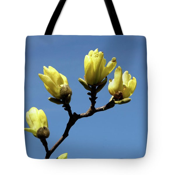 Yellow Magnolia Tote Bag