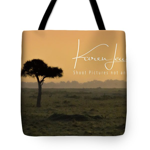 Tote Bag featuring the photograph Yellow Mara Dawn by Karen Lewis