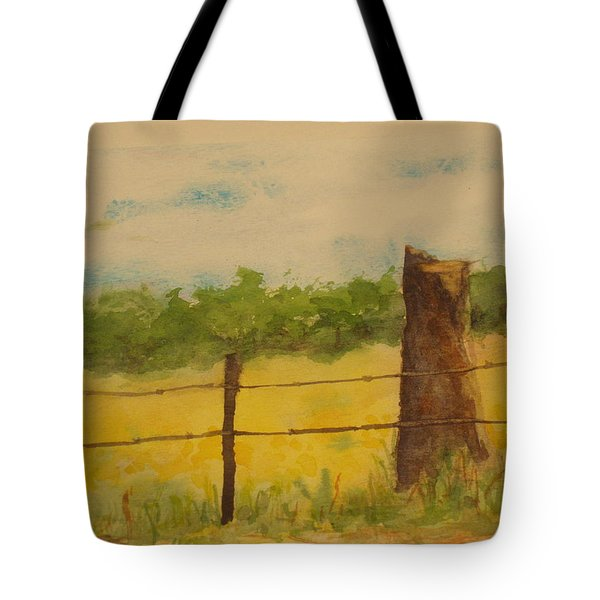 Tote Bag featuring the painting Yellow Meadow  by Vicki  Housel