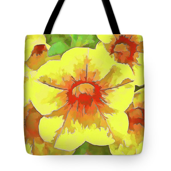 Yellow Million Bells Tote Bag