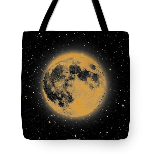 Yellow Moon Tote Bag