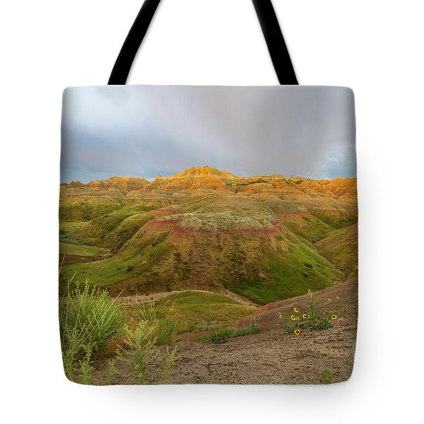Yellow Mounds Morning Tote Bag