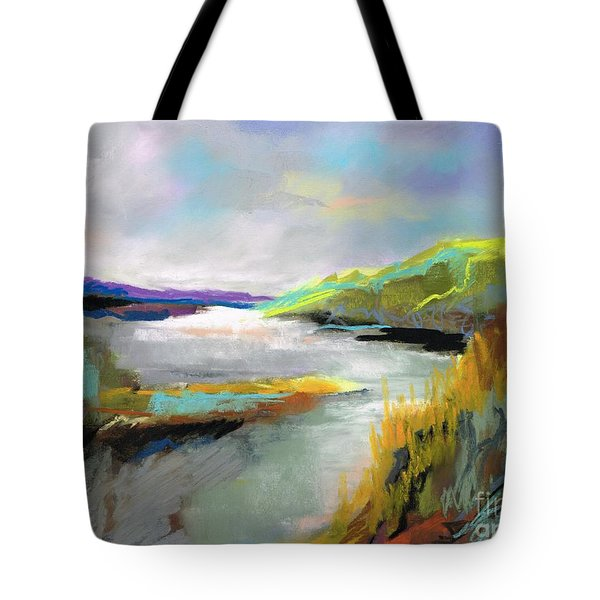 Yellow Mountain Tote Bag by Frances Marino