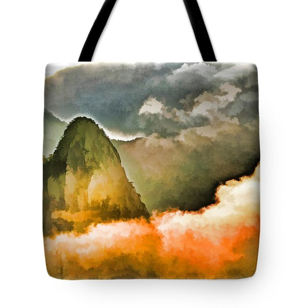 Yellow Mountain Mists Tote Bag