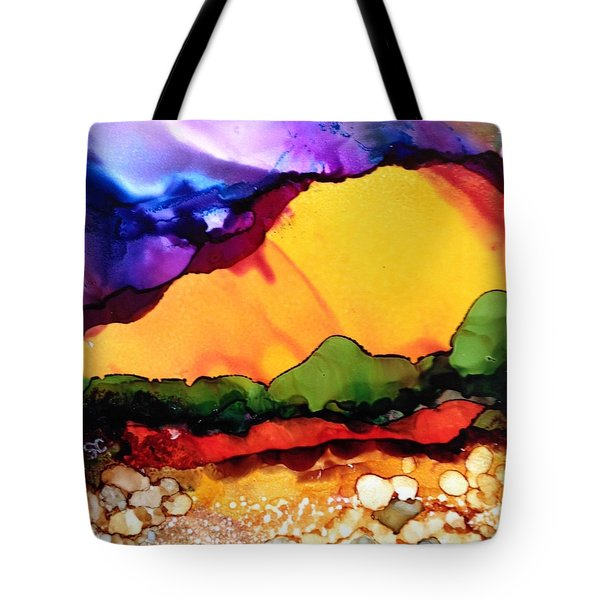 Yellow Mountain Tote Bag by Suzanne Canner