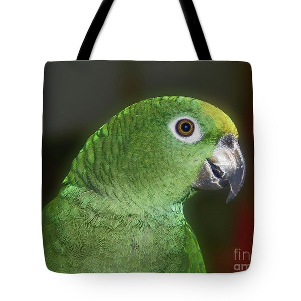 Yellow Naped Amazon Parrot Tote Bag