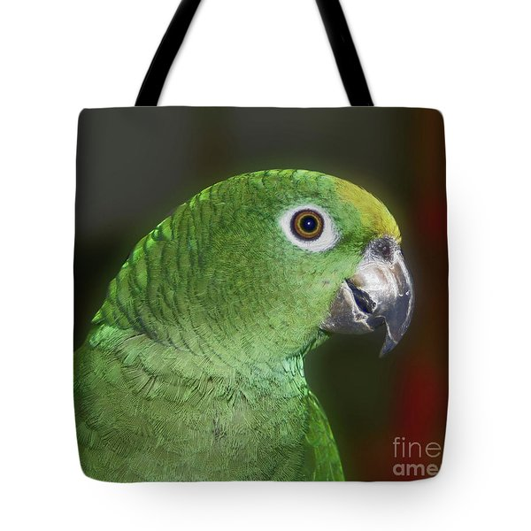 Yellow Naped Amazon Parrot Tote Bag