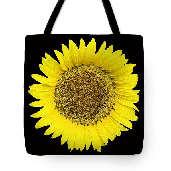 Yellow On Black Tote Bag