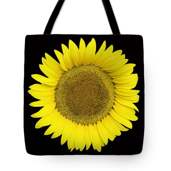 Yellow On Black Tote Bag