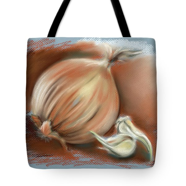 Yellow Onion And Sprouting Garlic Tote Bag