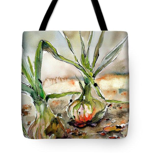 Yellow Onions Food Art  Tote Bag