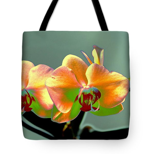 Tote Bag featuring the photograph Yellow Orchid Abstract by M Diane Bonaparte