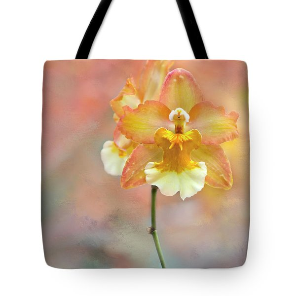 Yellow Orchid Tote Bag by Ann Bridges