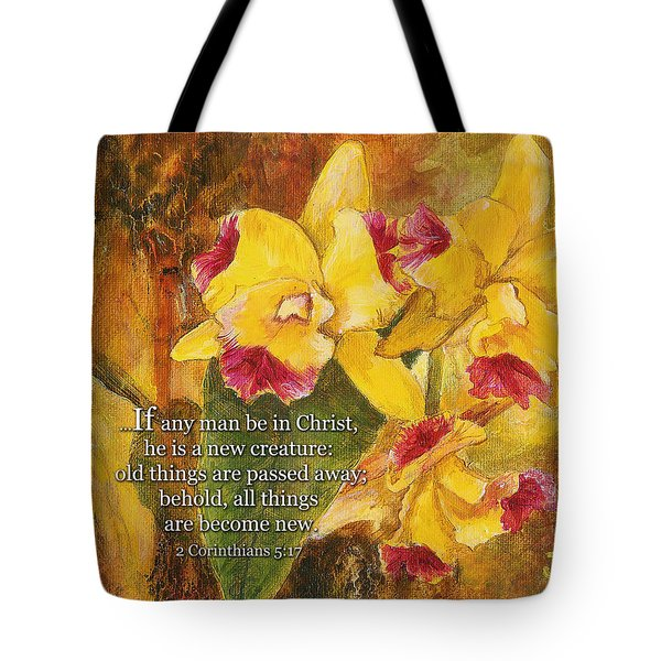 Yellow Orchids Acrylic 2 Cor 5 Tote Bag