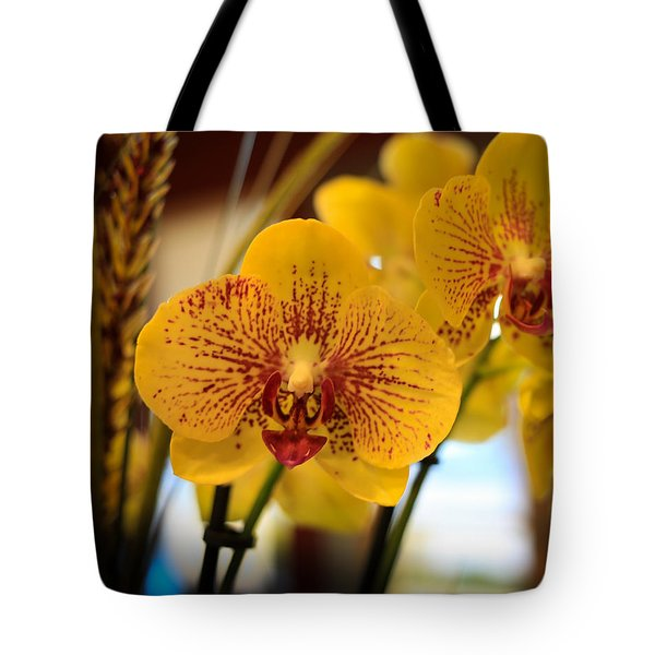 Yellow Orchis Tote Bag