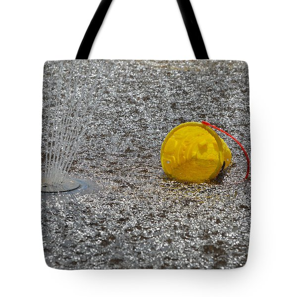 Tote Bag featuring the photograph Yellow Pail And Water  by Lyle Crump