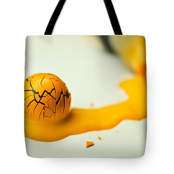 Yellow Painted Ball Tote Bag