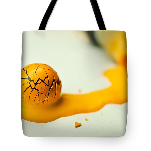 Yellow Painted Ball Tote Bag