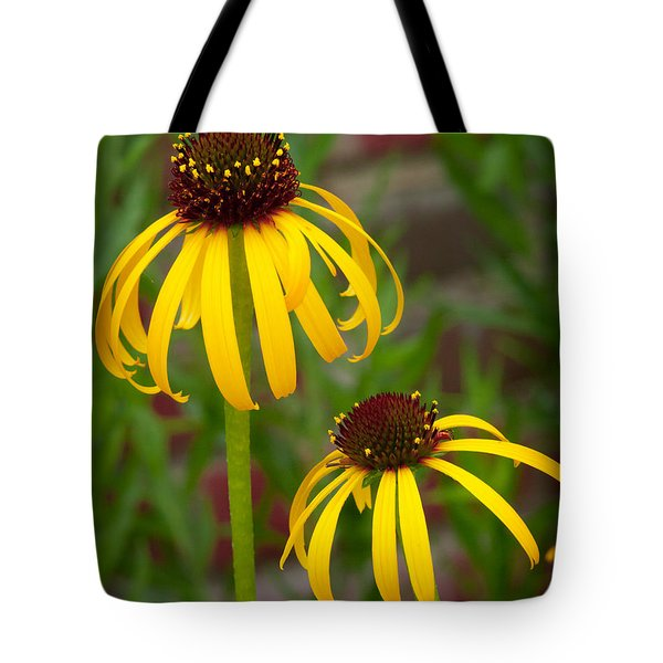 Tote Bag featuring the photograph Yellow Pair by David Coblitz