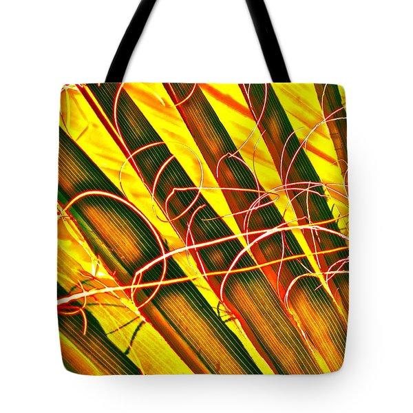 Yellow Palm Fun Tote Bag by Gwyn Newcombe