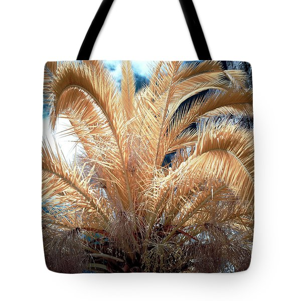 Yellow Palm Tree Tote Bag