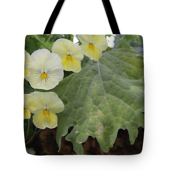 Yellow Pansies Tote Bag