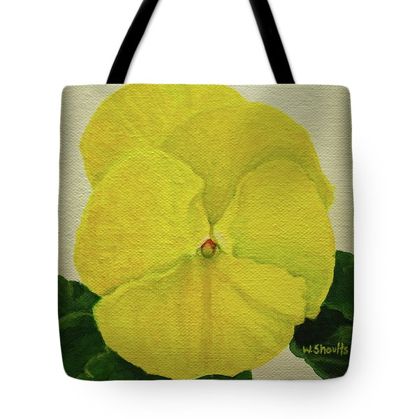 Yellow Pansy Tote Bag by Wendy Shoults