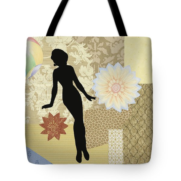 Yellow Paper Doll Tote Bag