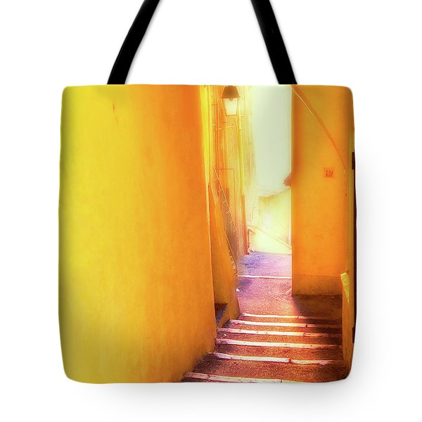 Tote Bag featuring the photograph Yellow Passage  by Harry Spitz
