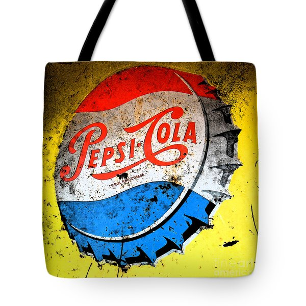 Yellow Pepsi Pop Art Tote Bag by Gary Everson