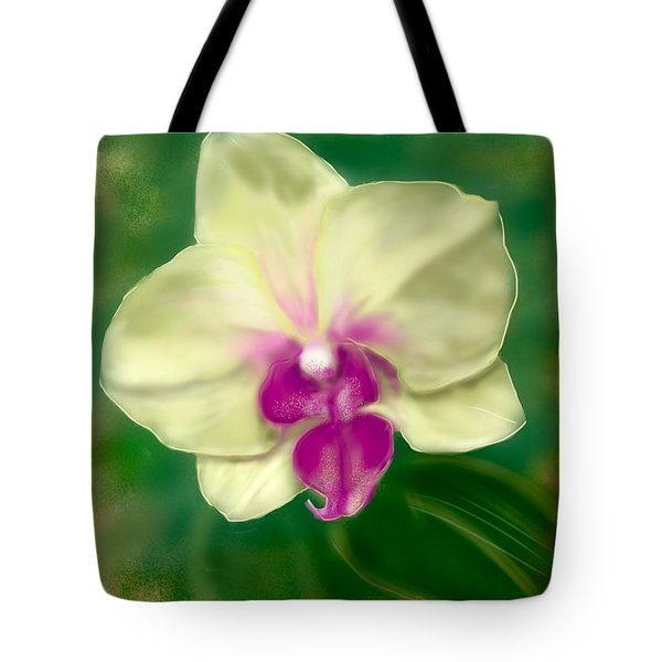 Yellow Phalenopsis Tote Bag