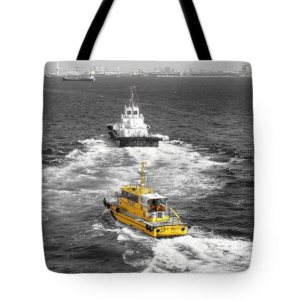 Yellow Pilot Yokohama Port Tote Bag