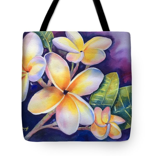 Yellow Plumeria Flowers Tote Bag