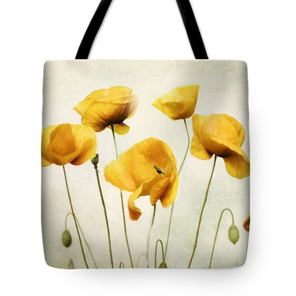Tote Bag featuring the photograph Yellow Poppies - Square Version by Amy Tyler
