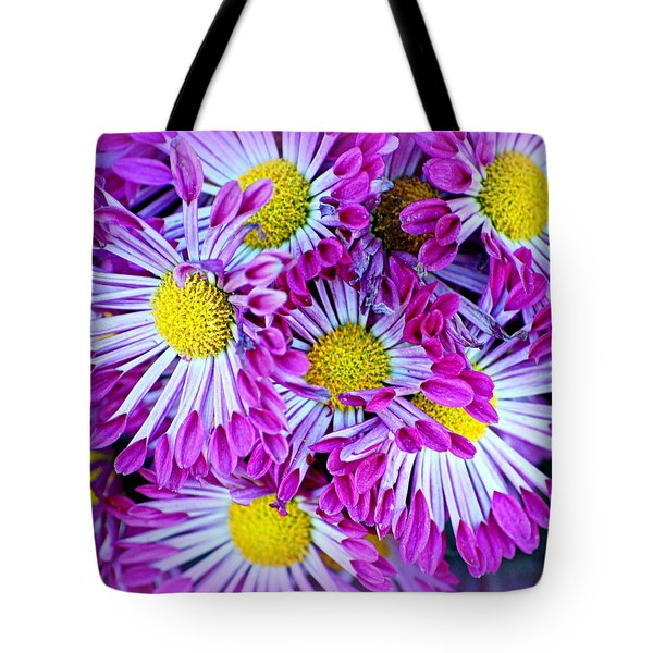Yellow Purple And White Tote Bag