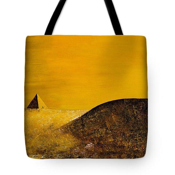 Yellow Pyramid Tote Bag by Mayhem Mediums