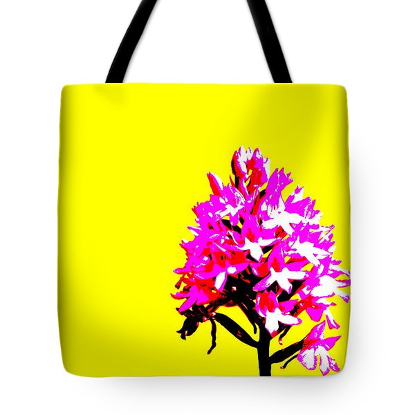 Yellow Pyramid Orchid Tote Bag