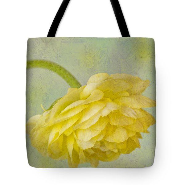 Yellow Ranunculus Macro Tote Bag by Sandra Foster