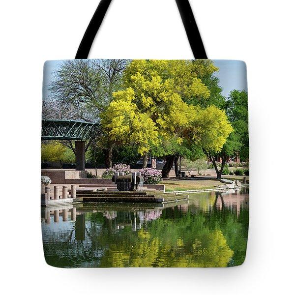 Yellow Reflection Tote Bag