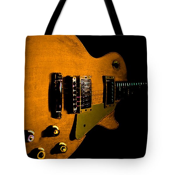 Yellow Relic Guitar Hover Series Tote Bag