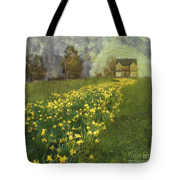 Yellow River To My Door Tote Bag
