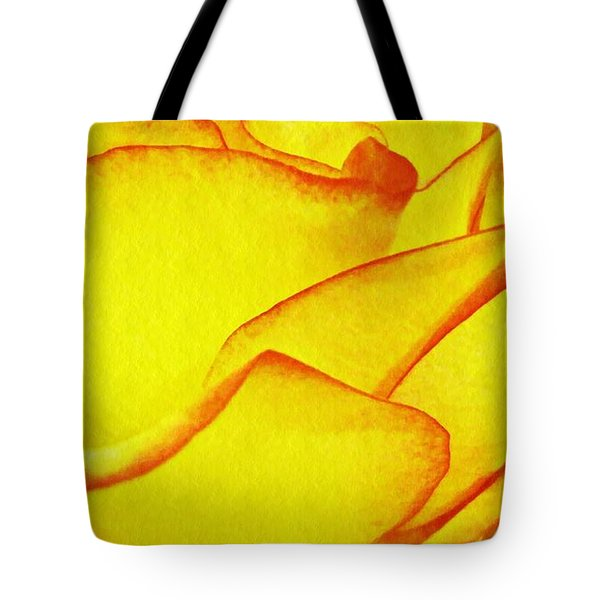Yellow Rose Abstract Tote Bag