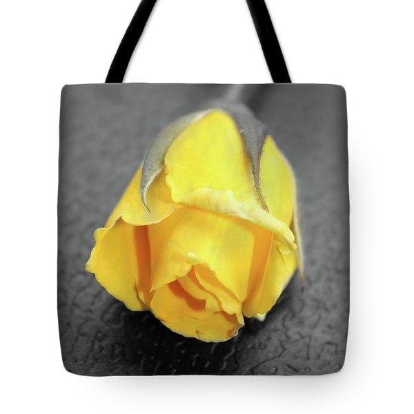 Yellow Rose Tote Bag by Angel Jesus De la Fuente