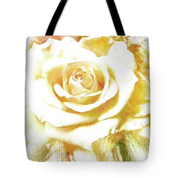 Tote Bag featuring the photograph yellow Rose by Athala Carole Bruckner